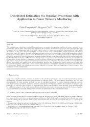 Distributed Estimation via Iterative Projections with Application to ...