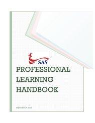 Professional Learning Handbook (pdf) - Singapore American School