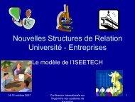 Nouvelles Structures de Relation Université - Entreprises