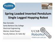 Spring Loaded Inverted Pendulum Single Legged Hopping Robot