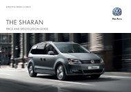 Sharan price list - Volkswagen UK