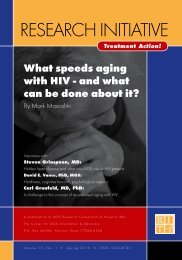 What Spreads Aging with HIV-and What Can be Done About It?