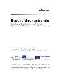 Ergebnisse des IAB-Betriebspanels Bremen 2011 in der Kurzfassung