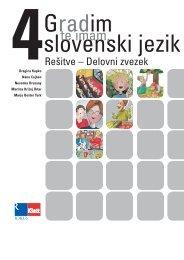Gradim slovenski jezik 4 - rešitve delovnega zvezka