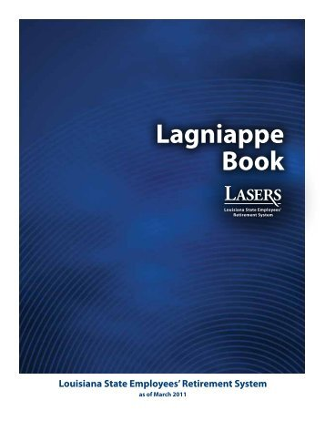 Lagniappe Book - Louisiana State Employees' Retirement System