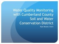 Water Quality Monitoring presentation - Cumberland County Soil ...