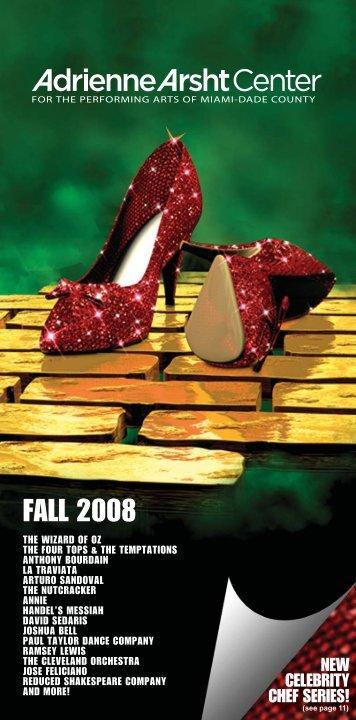 2008 Fall Brochure - Adrienne Arsht Center