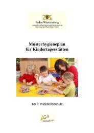 Musterhygieneplan für Kindertagesstätten - Landkreis Esslingen