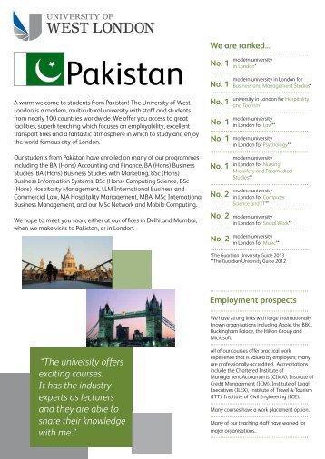 Pakistan - University of West London