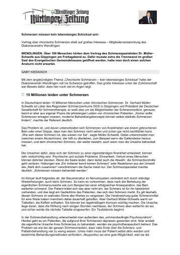 Zeitungsbericht der Wendlinger Zeitung vom 27. Februar 2006