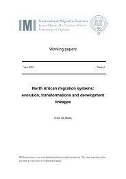 Working papers North African migration systems: evolution ...