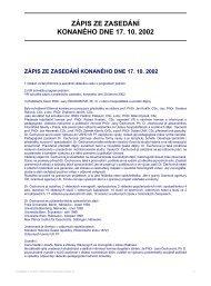 zápis ze zasedání konaného dne 17. 10. 2002 - Filozofická fakulta