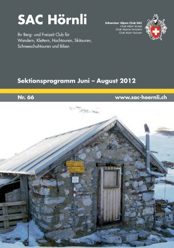 SAC-Hörnli Bulletin Nr. 66 - SAC Sektion Hörnli