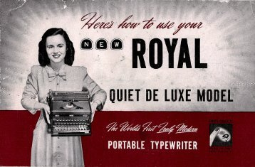 Here's How to Use Your New Royal Quiet DeLuxe Model - Sevenels