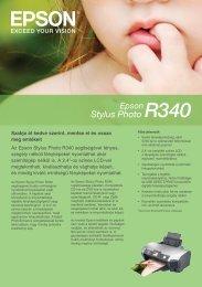 Az Epson Stylus Photo R340 segítségével fényes, szegély nélküli ...