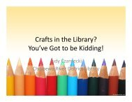 Crafts in the Library? You've Got to be Kidding!