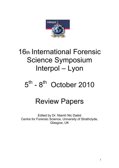 Examination of Firearms Review: 2007 to 2010 Interpol