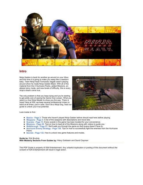 Ninja Gaiden Black Xbox Pdf Spumonte
