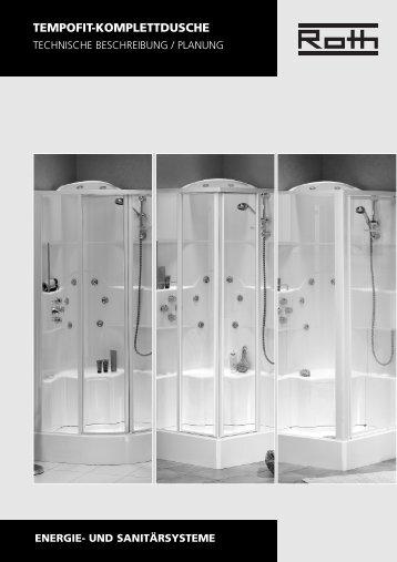 und sanitärsysteme tempofit-komplettdusche - Roth Werke