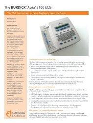 The BURDICK® Atria® 3100 ECG - Cardiac Science