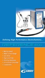 Reference 600 - Gamry Instruments