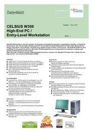 CELSIUS W350 High-End PC / Entry-Level Workstation