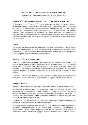 PROYECTO FIN DE CARRERA - ETS | Ingenieros de Caminos ...