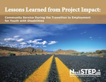 Lessons Learned from Project Impact: - National Service Inclusion ...
