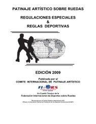 patinaje artístico sobre ruedas regulaciones especiales ... - FIRS