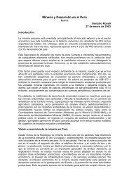 Minería y Desarrollo en el Perú