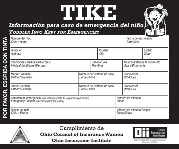 TIKE label SPANISH_ENG.indd - Ohio Insurance Institute