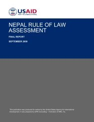 NEPAL RULE OF LAW ASSESSMENT