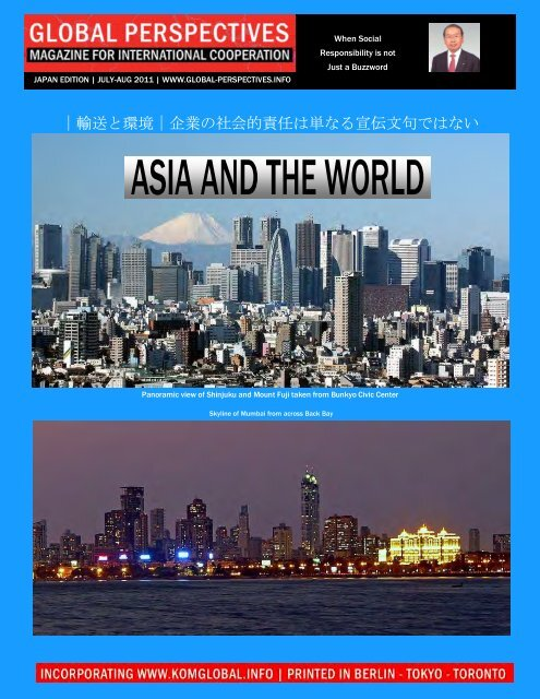 Global Perspectives | July-August 2011 - Japan Edition