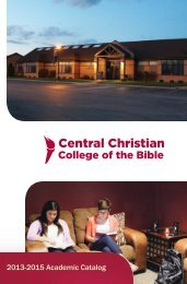 Academic Catalog - Central Christian College of the Bible