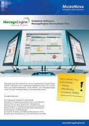 www.ManageEngine.de Helpdesk-Software ManageEngine ...