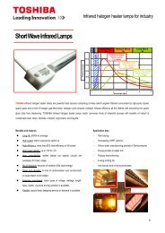 Short Wave Infrared Lamps