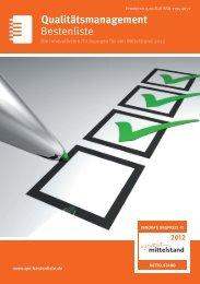 Bestenliste Qualitätsmanagement - IT-Bestenliste