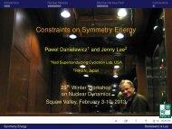 Constraints on Symmetry Energy - RHIG - Wayne State University