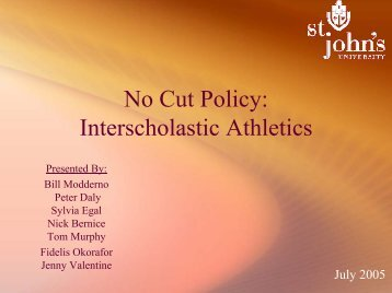 Athletic Policy Change Proposal PowerPoint Presentation - Jenny J ...