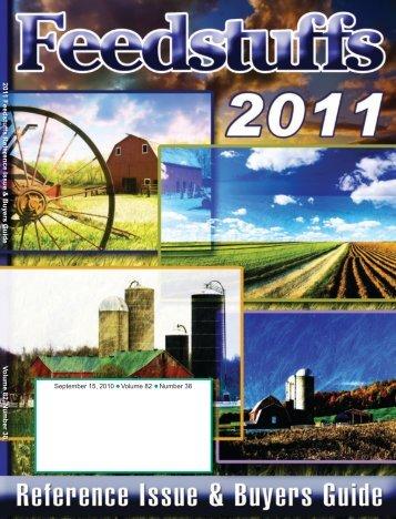 September 15, 2010 Volume 82 Number 38 2011 Feedstuffs ...