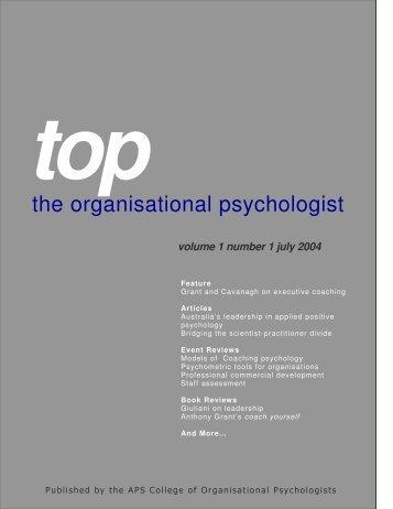 TOP - July 2004 - APS Member Groups - Australian Psychological ...