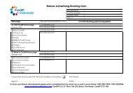 Banner Advertising Booking form - Visit Cardiff