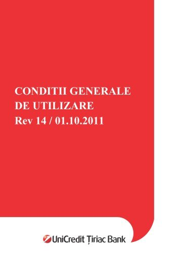 CONDITII GENERALE DE UTILIZARE Rev 14 / 01.10.2011