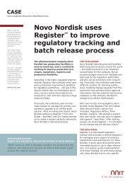 Novo Nordisk uses Register™ to improve regulatory tracking ... - NNIT