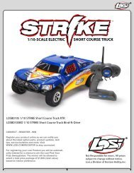 1/10-SCALE ELECTRIC SHORT COURSE TRUCK - Losi