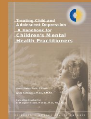 Treating Child & Adolescent Depression - Children's Mental Health ...