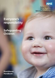 Safeguarding Children booklet - Hampshire and Isle of Wight LPC