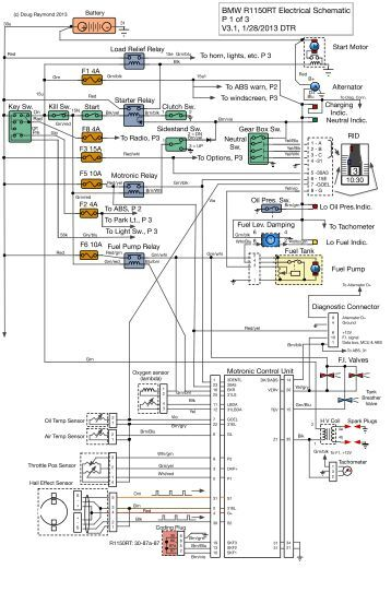 Bmw R1150rt Dual Plug Electrical Schematic P 1 Of