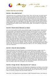 16) Sieben Schritte zum Erfolg - mindway