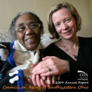 2009 Annual Report - Council on Aging of Southwestern Ohio